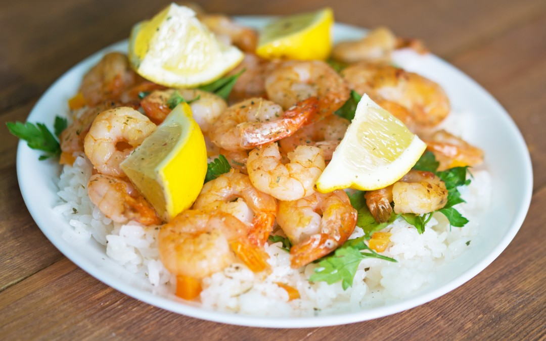 Lemon Pepper Shrimp Scampi