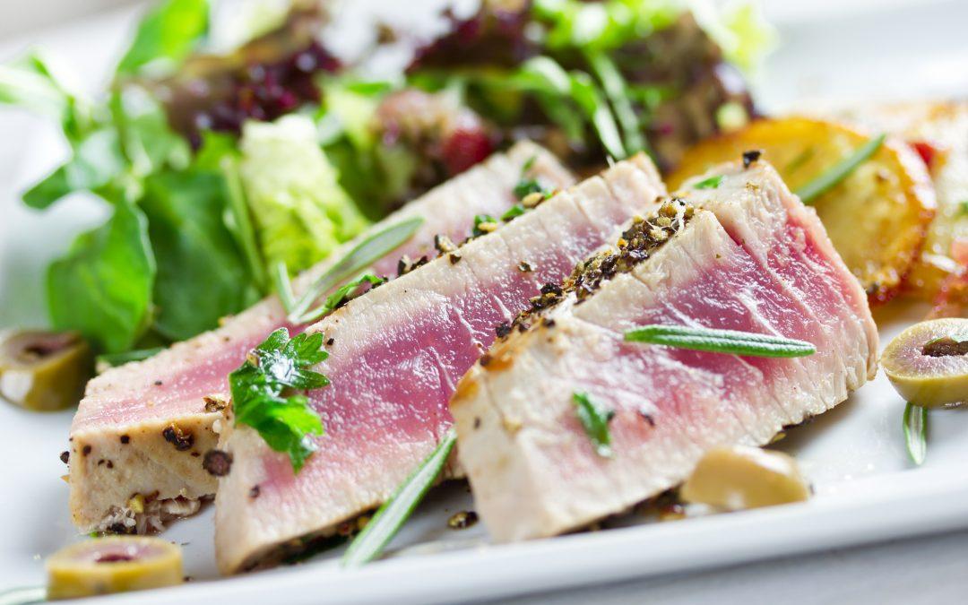Pistachio-Rosemary Crusted Tuna
